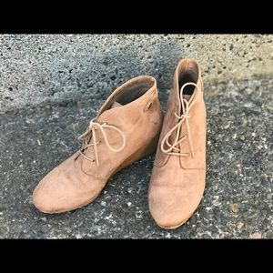 Dr Scholls Conquer Wedge Booties, Camel, Size 9
